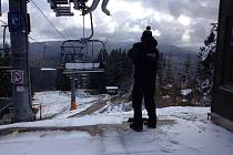První sníh na Špičáku