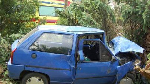 Dopravní nehoda v Kroměždicích