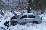 Dopravní nehoda u Rejštejna.