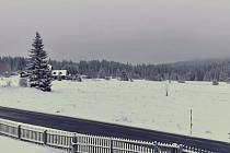 Sněhová nadílka na Modravě.