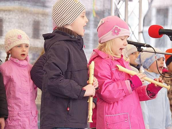 Velikonoční koncert dětí z Mateřské školy ve Studentské ulici v Klatovech.