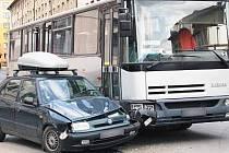 Nehoda v klatovské Masarykově ulici