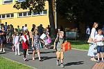 Loučení se školou na ZŠ Klatovy, Tolstého.
