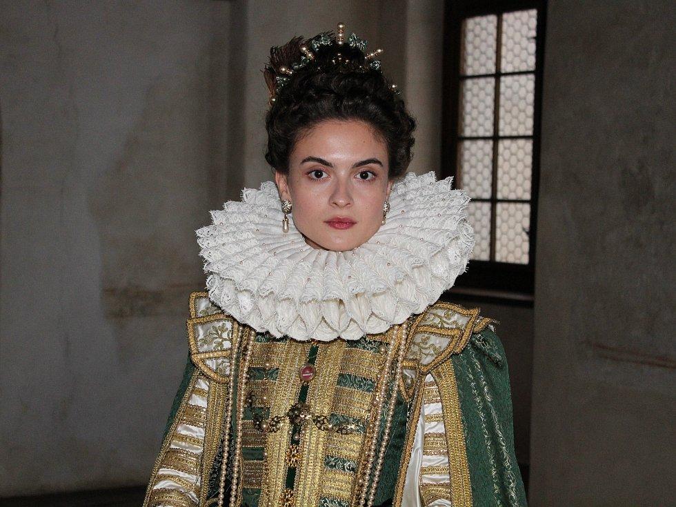 Natáčení filmu Defenestrace na hradě Švihov.