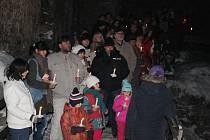 Prohlídky při svíčkách na hradě Rabí