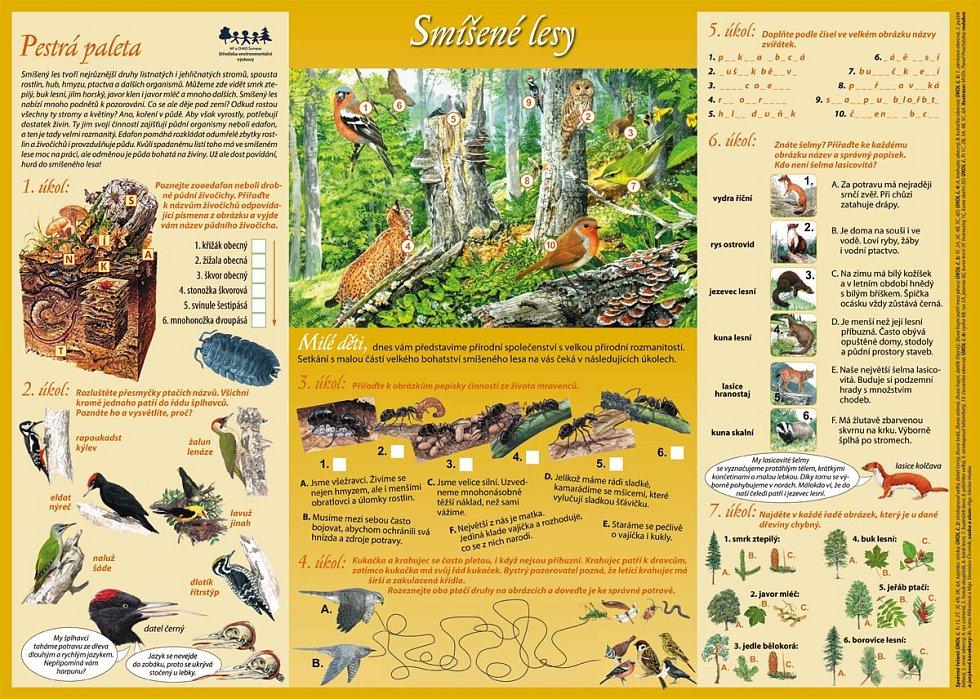 Národní park Šumava nabízí na svých webových stránkách zdarma materiály, které je možné využít v rámci distanční výuky.