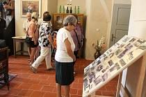 Otevření nové expozice na zámku v Mlázovech.