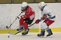Liga mladších žáků: HC Klatovy (v červeném) - HC Lužnice 9:3.