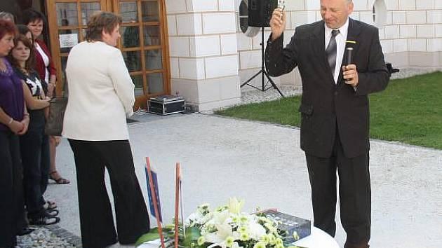 Slavnostní zahájení stavby kanalizace a ČOV v Hrádku