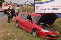 Dopravní nehoda mezi Klatovami a Štěpánovicemi