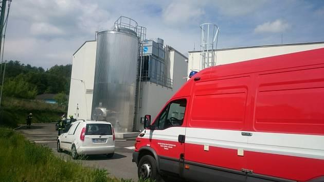 Únik čpavku v průmyslové zóně v Sušici.