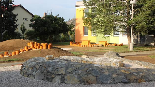 Nová zahrada v MŠ Máchova v Klatovech.