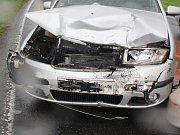 V sobotu 23. dubna se u Sušice čelně střetla dvě auta.