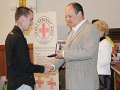 Předání ocenění dárcům krve v Klatovech.