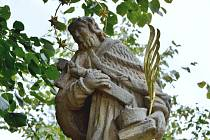 Socha sv. Jana Nepomuckého v Malechově.