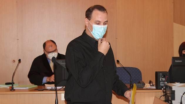 Martin Šafář u klatovského soudu.