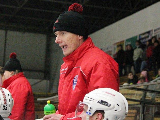 Trenér klatovských druholigových hokejistů Pavel Vostřák.