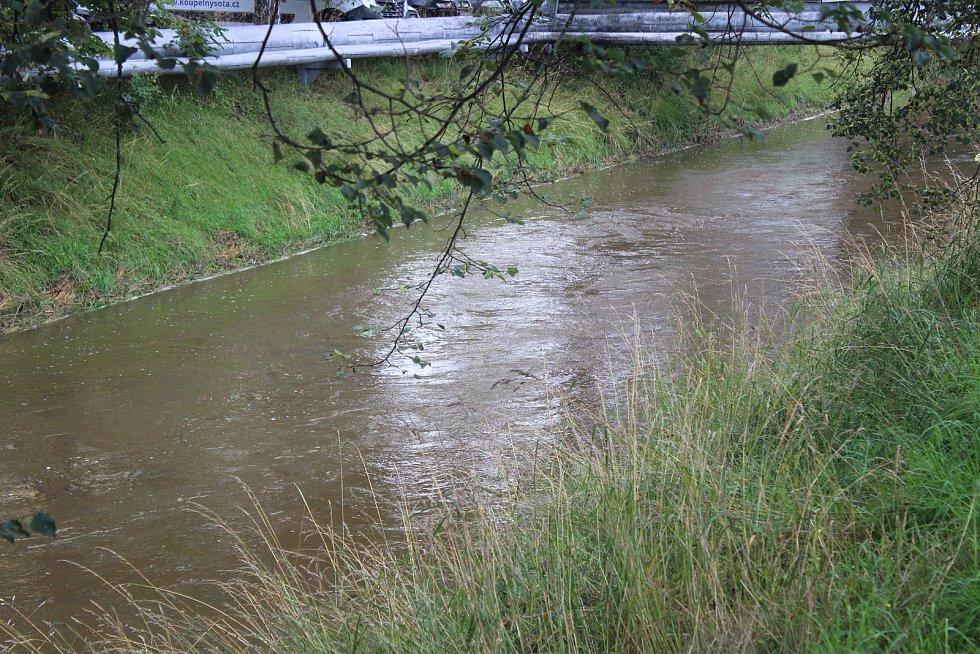 Drnový potok v Klatovech.