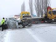 Čelní srážka u Borov si vyžádala šest zraněných