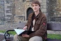 David Franta se svou prací Literární Poleň.