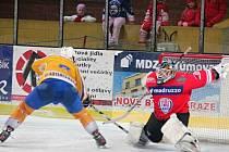 Klatovský brankář Štelmach chytil všechny tři nájezdy a domácí tak v prvním utkání play off porazili Klášterec.