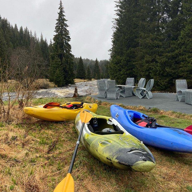 Splouvání řeky Vydry.