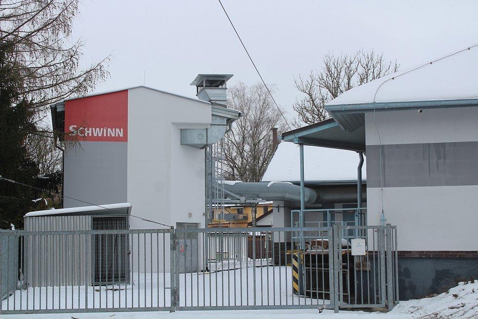 Objekt firmy Schwinn v Bezděkově.