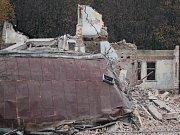 Demolice hotelu Otava v Sušici.