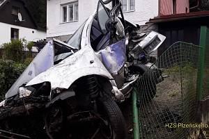 Nehoda v Železné Rudě.