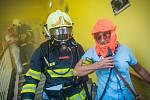 Cvičení IZS v domově pro seniory v Sušici.