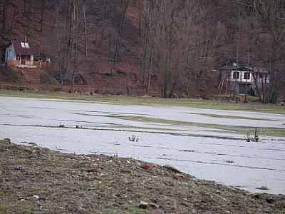 Zaplavené louky na Dolansku.