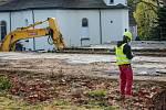 Železná Ruda, bourání objektu bývalé cukrárny
