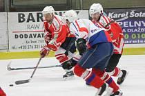 Čtvrtfinále krajské soutěže mužů: Malá Víska (v červeném) - SKP Rokycany 6:0.