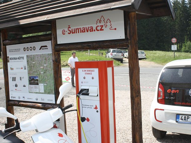 Dobíjecích stanic je na Šumavě zatím pět, všechny na Klatovsku