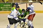 Hokejisté Sušice (na archivním snímku hráči v bílých dresech) těsně podlehli vedoucím Katovicím.