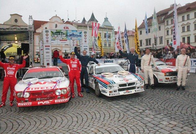 Cíl 22. Historic Vltava Rallye