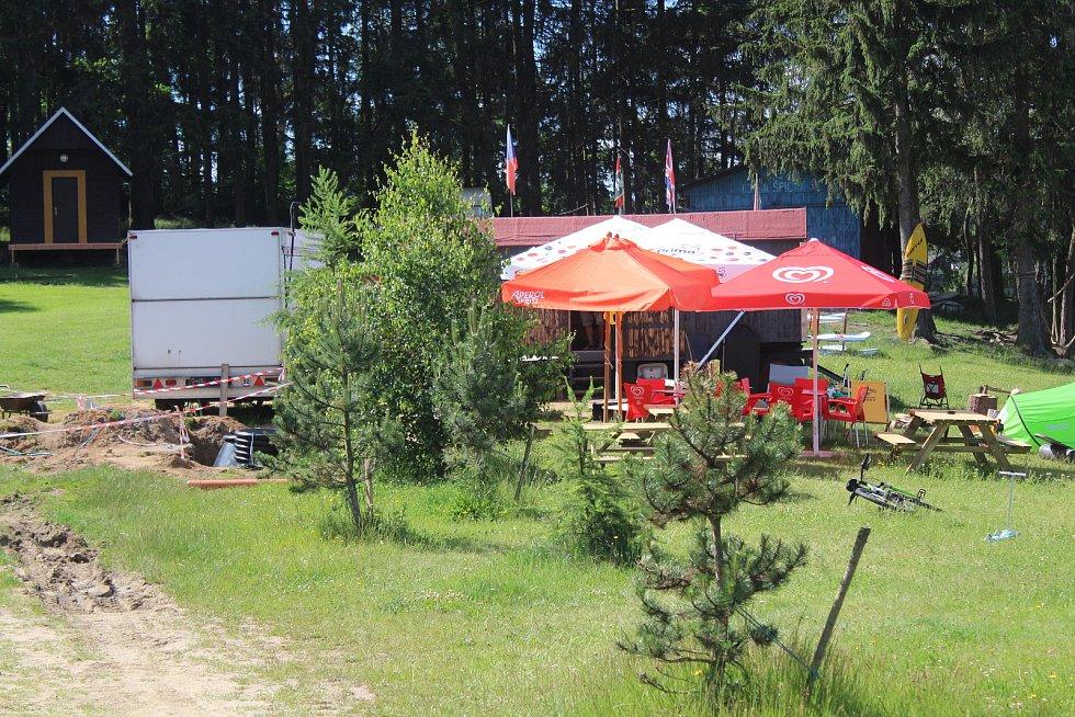 Wakepark v Hnačově.
