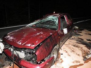 Dopravní nehoda v Železné Rudě.