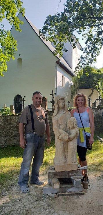 Sochař Bartoloměj Štěrba - svatý Anna - annínská sklářská královna Ludmila II.