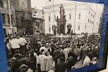 Výstava v kině Šumava, jak to vypadalo v Klatovech v roce 1989..