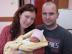 Vanesa (2640 gramů, 47 cm) se narodila 13. listopadu ve 12.57 hodin ve Fakultní nemocnici v Plzni. Svoji prvorozenou holčičku přivítali na světě maminka Zdeňka a tatínek Ladislav Sejpkovi z Běšin u Klatov.