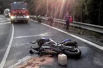Nehoda motocyklu u Javorné.