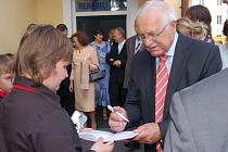 Návštěva prezidenta Václava Klause v Horažďovicích