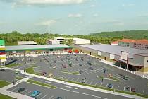 Vizualizace obchodního centra Retail park v Sušici