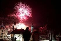Oslavy Nového roku na klatovském náměstí 2020