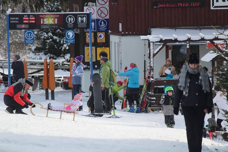 Areály na Železnorudsku 27. prosince.