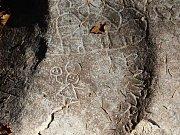 Kamenná galerie na jihozápadním svahu Můstku