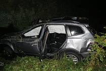 Nehodu u Kokšína nepřežil spolujezdec