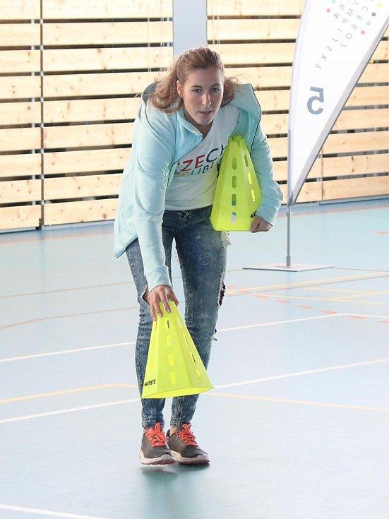 Sazka Olympijský víceboj 2017 v Kašperských Horách. Hlavním hostem byla olympionička a mistryně světa ve vodním slalomu Kateřina Kudějová.