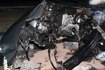 Nehoda na Bukováku u Číhaně.